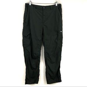 36x30 Columbia Omni-Shade Cargo Pants Hiking Green